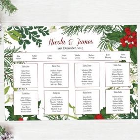Festive Winter Foliage - Table Plan