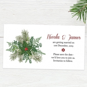 Festive Winter Foliage - Save the Date Magnets