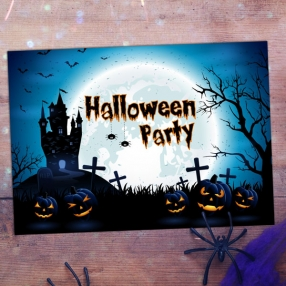 Halloween Party Invitations - Haunted House