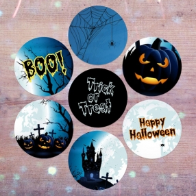 Haunted House - Halloween Stickers - Pack of 70