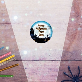 Haunted House - Halloween Sweet Cone Bag & Sticker - Pack of 35