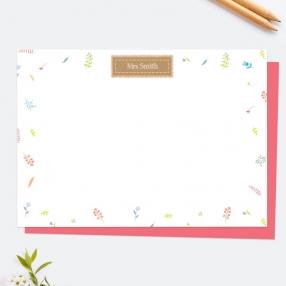 kraft-scattered-flowers-personalised-note-card
