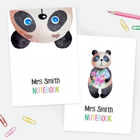 Little Panda - Personalised A5 Exercise Books - Pack of 2