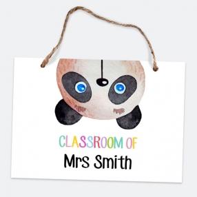Little Panda - Landscape - A5 Personalised Teacher Sign