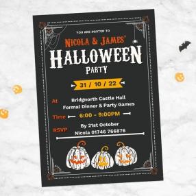 Halloween Party Invitations - Pumpkin Trio