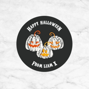 Pumpkin Trio - Halloween Sweet Bag Stickers - Pack of 35