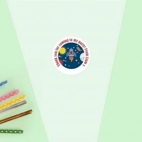 Rocket - Sweet Cone Bag & Sticker - Pack of 35