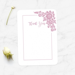 Anniversary Thank You Cards - Romantic Flowers
