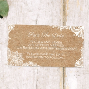 Rustic Lace Pattern - Save the Date Magnets