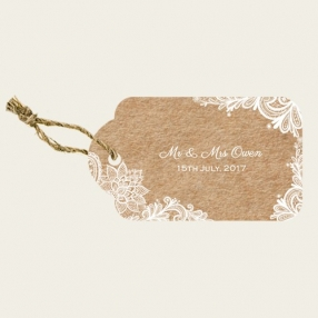 Rustic Lace Pattern - Favour Tags