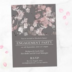 Engagement Party Invitations - Sakura Blossom