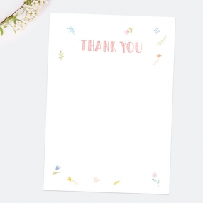 Ready to Write Thank You Cards - Scattered Flowers - Pack of 10