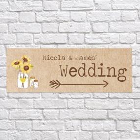 Rustic Sunflowers - Arrow Wedding Signs