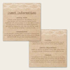 Rustic Sunflowers - Guest Information