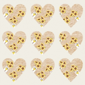 Rustic Sunflowers - Heart Table Confetti