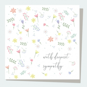Sympathy-Card-Scattered-Flowers-With-Deepest-Sympathy
