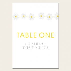 Delicate Daisies - Table Name/Number