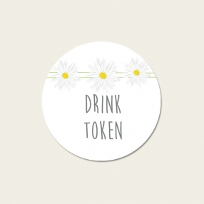 Delicate Daisies - Drink Tokens - Pack of 30
