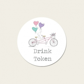 Tandem Love - Drink Tokens - Pack of 30