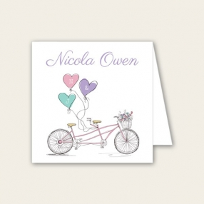 Tandem Love - Wedding Place Cards