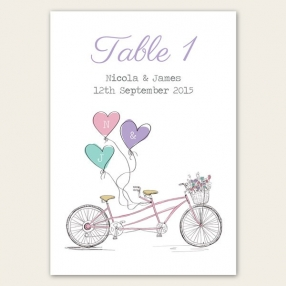 Tandem Love - Table Name/Number