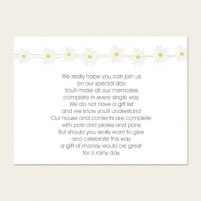 Delicate Daisies - Gift Poem Cards