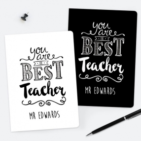 You Are The Best Typography - Personalised A5 Exercise Books - Pack of 2