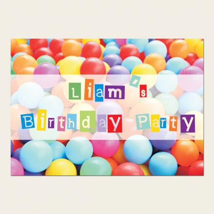 Personalised Kids Birthday Invitations - Soft Play Party - Pack of 10