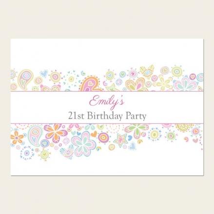 21st Birthday Invitations - Heart Mix