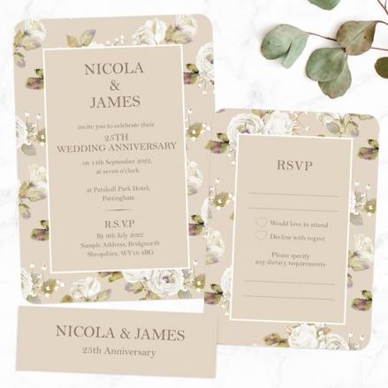 25th-Wedding-Anniversary-Invitations-Vintage-Cream-Roses