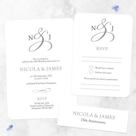 25th-Wedding-Anniversary-Invitations-Classic-Monogram