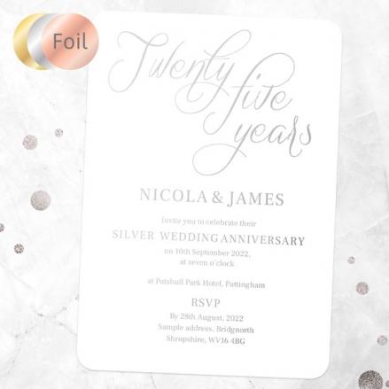 25th-Foil-Wedding-Anniversary-Invitations-Elegant-Script