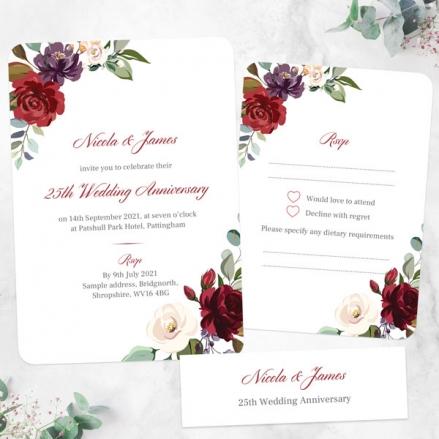 25th-Wedding-Anniversary-Invitations-Jewel-Flowers