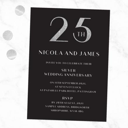 25th-Wedding-Anniversary-Invitations-Glitter-Effect-Typography