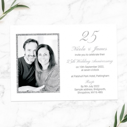 25th-Wedding-Anniversary-Invitations-Simple-Glitter-Effect