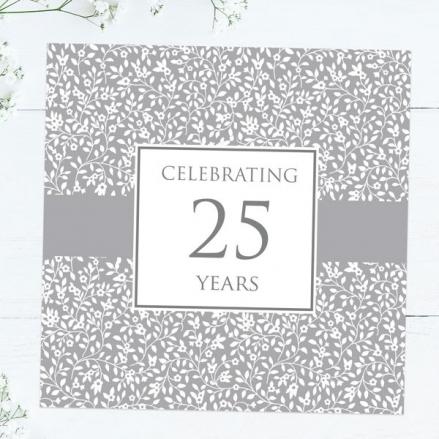 25th Wedding Anniversary Invitations - Delicate Pattern