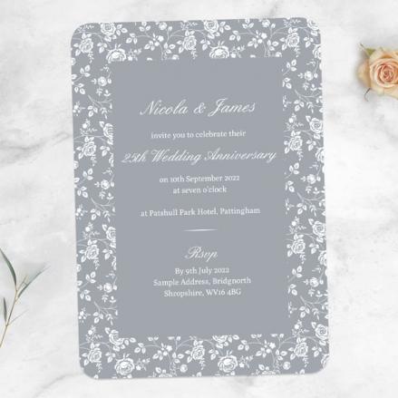 25th-Wedding-Anniversary-Invitations-Delicate-Rose-Pattern