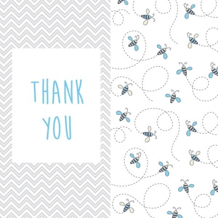 Thank You - Busy Bee - Postcard - Pack of 10