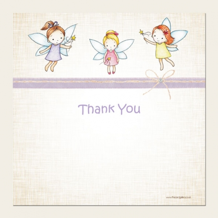 Ready to Write Kids Thank You Cards - Girls Fairy