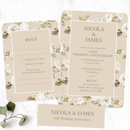 30th-Wedding-Anniversary-Invitations-Vintage-Cream-Roses
