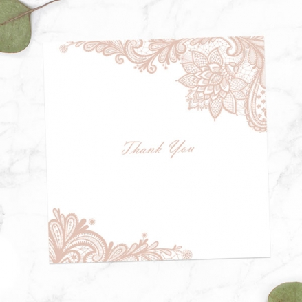 30th Anniversary Thank You Cards - Victorian Lace