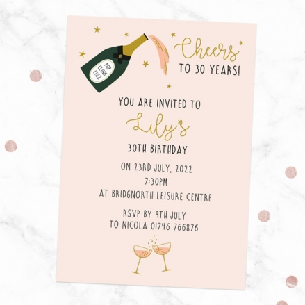 30th-birthday-invitations-champagne-blush