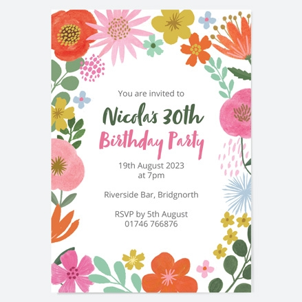 30th-birthday-invitations-beautiful-blooms-flowers-birthday-party-thumbnail