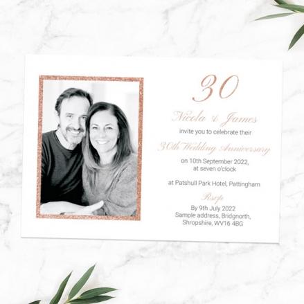 30th-Wedding-Anniversary-Invitations-Simple-Glitter-Effect