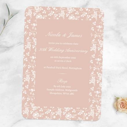 30th-Wedding-Anniversary-Invitations-Delicate-Rose-Pattern