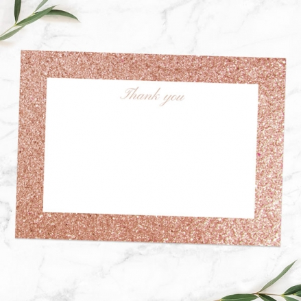 30th Anniversary Thank You Cards - Simple Glitter Effect