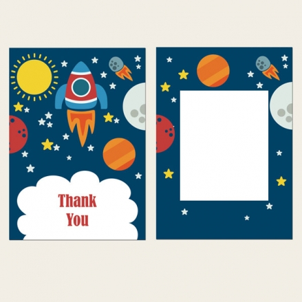 Ready to Write Kids Thank You Cards - Rocket