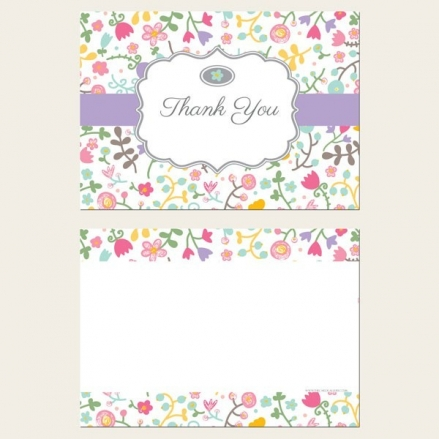 Ready to Write Thank You Cards - Flower Mix