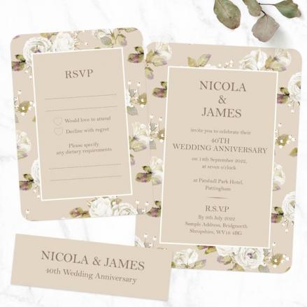 40th-Wedding-Anniversary-Invitations-Vintage-Cream-Roses