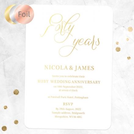 40th-Foil-Wedding-Anniversary-Invitations-Elegant-Script
